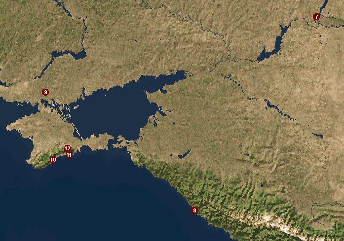 Онлайн карта Крыма со спутника